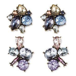 Sugarfix BaubleBar Flower Crystal stud earrings